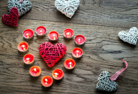 bougie coeur: Candle heart