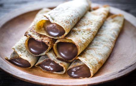 Naleśniki z kremem czekoladowym