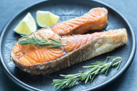 unsaturated fat: Roasted trout