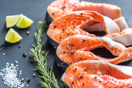 unsaturated fat: Trout steaks