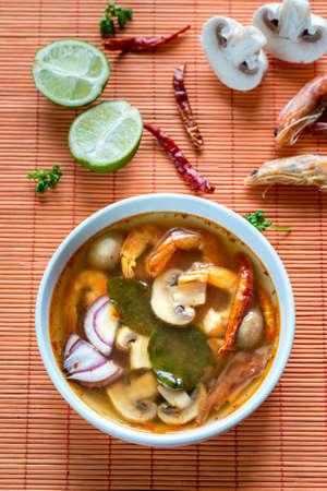tom': Tom yum thai soup Stock Photo