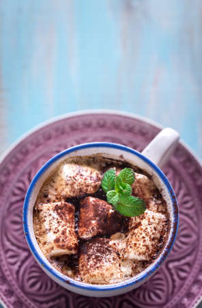 marshmellow: Hot chocolate with marshmallows