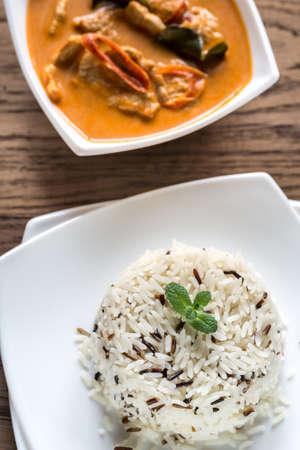 penang: Penang Curry with rice Stock Photo