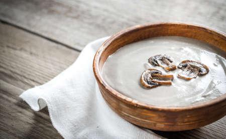 creamy: Creamy mushroom soup Stock Photo