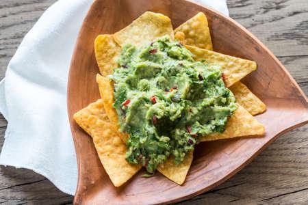 guacamole: Guacamole with tortilla chips