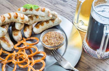 bavarian: Bavarian sausages with beer