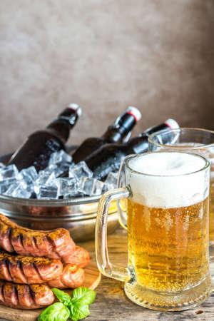 bottled beer: Bottled Beer in jug Stock Photo