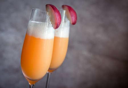 Bellini cocktails