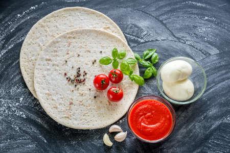 pizza ingredients: Pizza ingredients Stock Photo