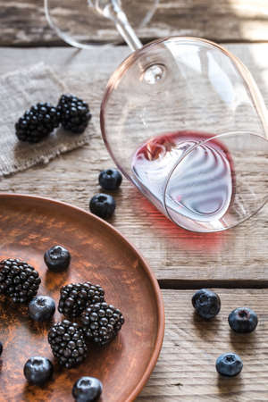 syrah: Red wine with berries