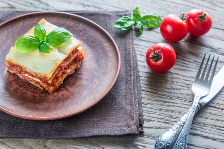 portion: Portion of lasagna