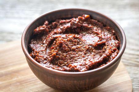smoky black: Adobo sauce Stock Photo