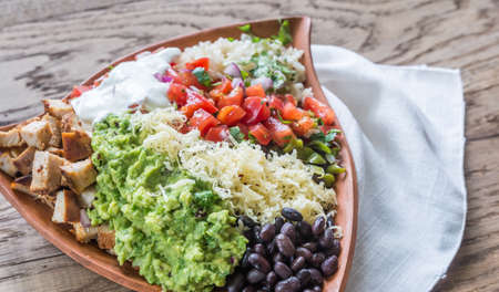 Burrito bowl Stock Photo