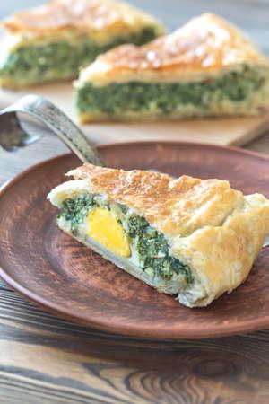 Torta Pascualina - Spinach and Ricotta Tart Reklamní fotografie