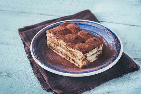 Portion of Tiramisu dessert 免版税图像