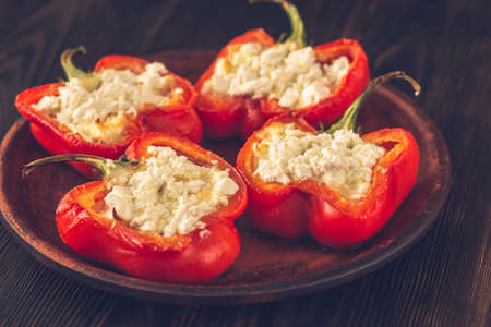Stuffed peppers with feta Stockfoto