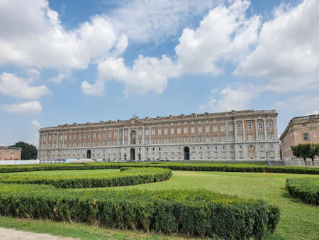 The Royal Palace of Caserta - former royal residence in Caserta of kings of Naples Stok Fotoğraf