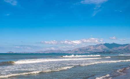 Mediterranean beach in Italy Banco de Imagens
