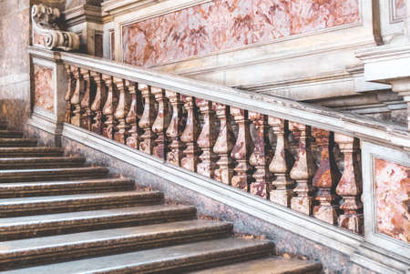 CASERTA, ITALY - JULY 12, 2019: Interior of 18th century Royal Palace of Caserta - former royal residence in Caserta of kings of Naples.