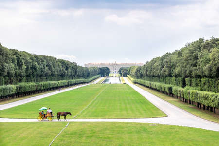 CASERTA, ITALY - JULY 12, 2019: The Royal Palace of Caserta - former royal residence in Caserta of kings of Naples. Redactioneel