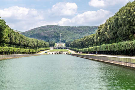 18th Century The Fountain of the Dolphins, Caserta, Italy Editorial