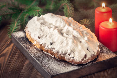 Stollen - traditional German bread eaten during the Christmas season