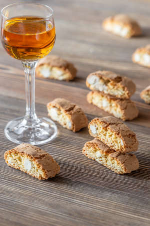 Cantuccini with a glass of Vin Santo - Italian dessert wine