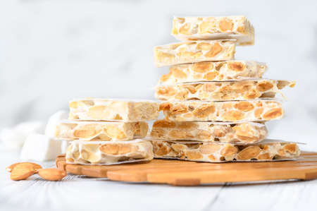 Bunch of spanish almond turron confection