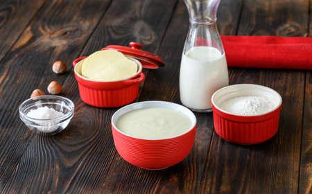 Ingredients of bechamel - French basic sauce