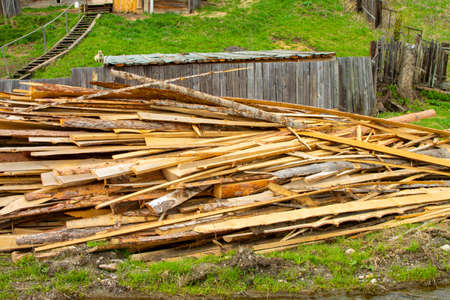 sawn boards, for construction. logging
