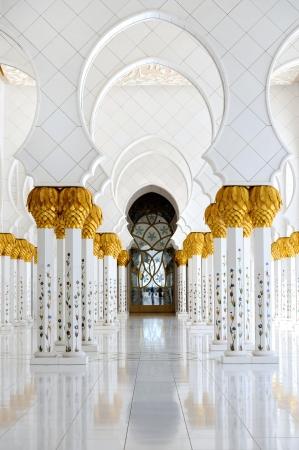 mezquita: Abu-Dhabi mezquita Sheikh Zayed Editorial
