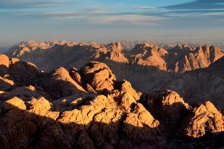monte sinai: Vista desde el Monte de Moisés Foto de archivo