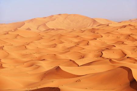desierto del sahara: Marruecos. Dunas de arena del desierto del Sahara