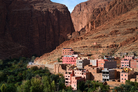 atlas: Morocco. Canyon Todra in the Atlas mountains