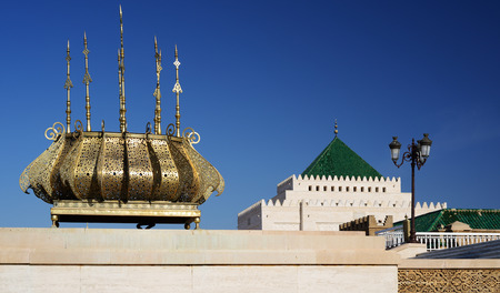 Morocco. Mausoleum of Mohammed V in Rabat