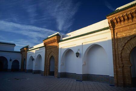 medina: Morocco. Jamee lakbire Medersa in the medina of Sale Editorial