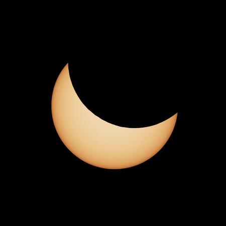 astrophysical: Partial solar eclipse 20.03.2015 Stock Photo