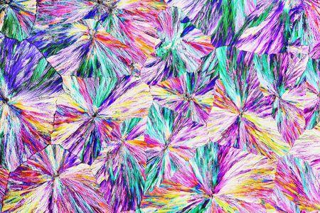 polarization: Micro Crystals in polarized Light Stock Photo