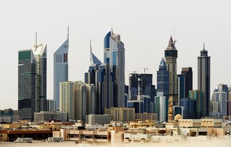 Skyscrapers of Dubai World Trade center. Editorial