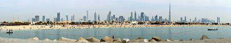 persian gulf: Panoramic view of Dubai from the Persian Gulf