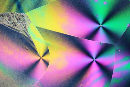 polarization: Colorful micro crystals in polarized light.