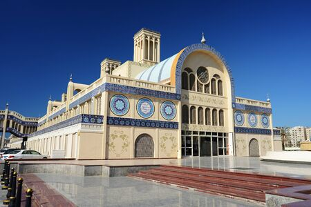 souq: Blue Souq in Sharjah. Stock Photo