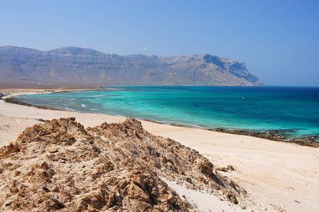 yemen: Seascape of Socotra island, Yemen. Stock Photo