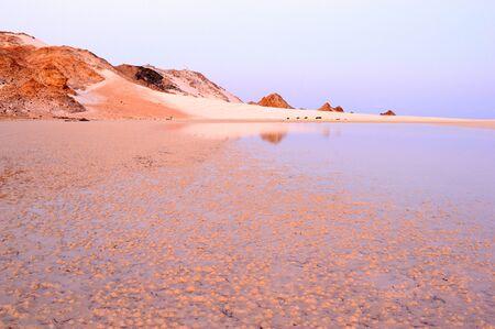 yemen: Yemen. Socotra island. Detwah Lagoon at sunrise.