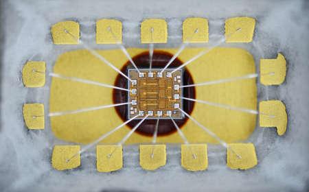 silicio: Extrema de cerca de micro chip de silicio.