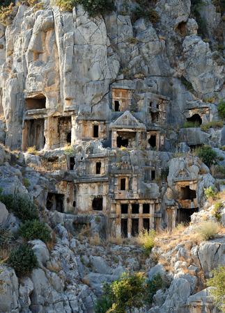 tumbas: Tumbas de la antigua ciudad de Myra.