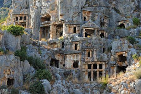 tumbas: Tombs of the ancient city of Myra.