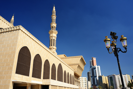 King Faisal mosque in Sharjah. Stock Photo