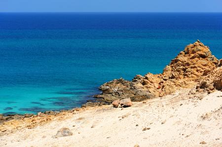 Idillyc seascape with rocks in Socotra island, Yemen.