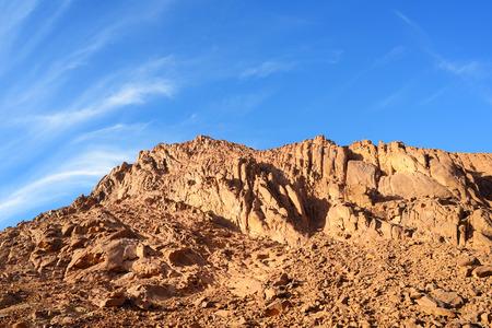 View of Sinai mountains in Egypt. Stock Photo